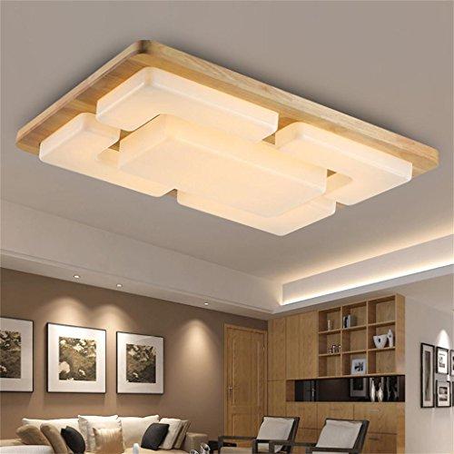 Moderne chinesische Holz Schlafzimmer gemütliches Wohnzimmer rechteckigen LED-Deckentuch