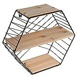 joyMerit Estantes De Hierro Rack De Almacenamiento De Pared Hexagonal con...