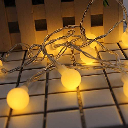CFLFDC lichtsnoer, voor kerst, sneeuw, sneeuw, batterijbox, ketting, 10 m, 100 licht, vier kleuren, 110 V, kleine bol