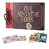 Álbum de fotos para libros de aventuras, álbum de fotos Pixar Up hecho a mano, álbum de recortes para la familia, álbum de fotos de boda, álbum de recortes para aniversario, álbum de recortes