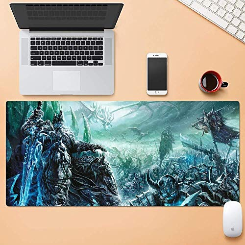 CFTGB Gaming Mouse Pad Grote Muismat World of Warcraft Wow Lichtkönig Battlefield Kruiwagen Muismat Computer PC-muismat