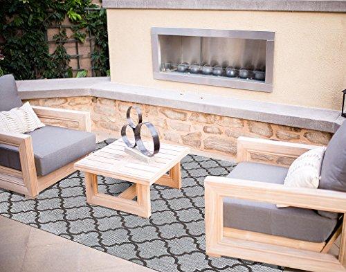 Gertmenian Studio by braun Jordan Sisal Strukturierte Seneca Woven Collection Grau Farbe 160x 226,1cm Indoor-/Outdoor Teppich Hochwertiges Etikett 9' x 13', X Large Gray Trellis