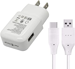 Fast Charger Compatible LG Stylo 4 G5 G6 G7 V20 V30 V35 V30S V40 ThinQ Plus,Samsung Galaxy S8 Plus S9 S9+ S10 Active Note 8 Note 9,Moto Z Z2 Plus and More, USB Type C Cable with Charger Adapter