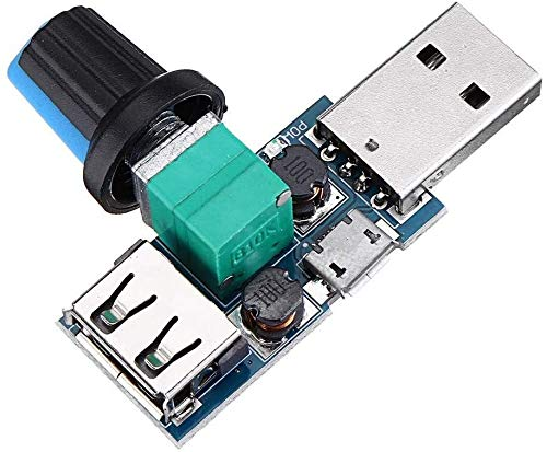 FORETTY DIANLU43 Módulo del Controlador de Velocidad del Ventilador USB Reducción de Ruido Multi-STALL Ajuste GOBERNADOR DC 4-12V Spot STEERMODUL Rendimiento Estable
