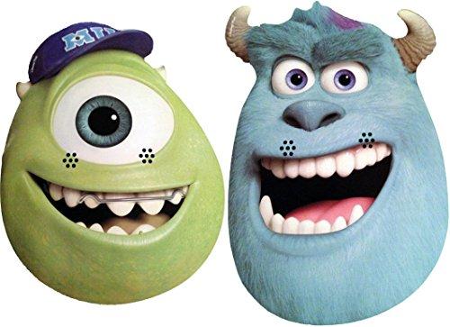 Monsters, Inc Monstres Academy University - Double Pack - Masques de Personnages - 2 Masques différents en Carte Rigide
