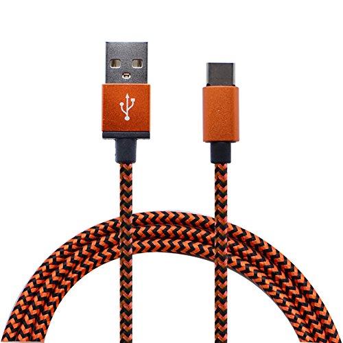 Haodou USB C Kabel auf USB 3.0 Schnelles Aufladen Type C Ladekabel 1m Nylon Geflochtenes für USB C Geräte,Samsung Galaxy S8, Nexus 5X/6P, Nokia N1, OnePlus 2/3, MacBook, Google Chromebook Pixel usw.