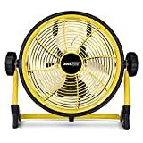 Geek Aire, 10 Inch Rechargeable Table Fan with 7800 mAh Li-ion Battery, upto 24hrs Run time during Power Failure (Yellow)