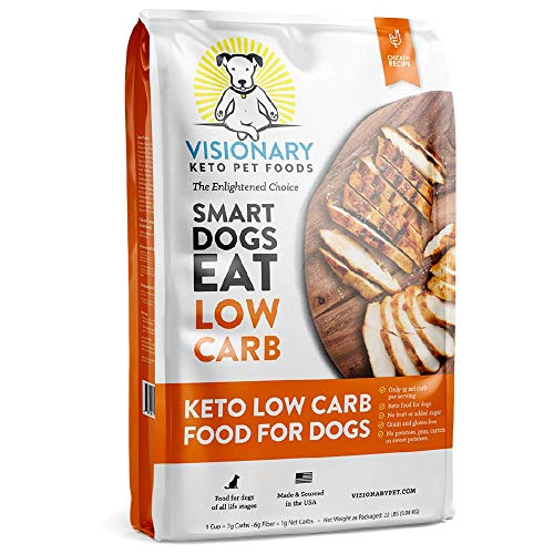 Visionary Pet - Keto Dog Food   Low Carb Kibble   High Protein   Natural Chicken Flavor   Grain Free Dry Dog Food with Natural Formula for Lifelong Health & Happiness
