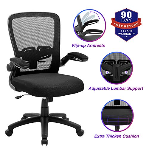Office Chair, ZLHECTO Ergonomic Desk Chair with Adjustable Height...