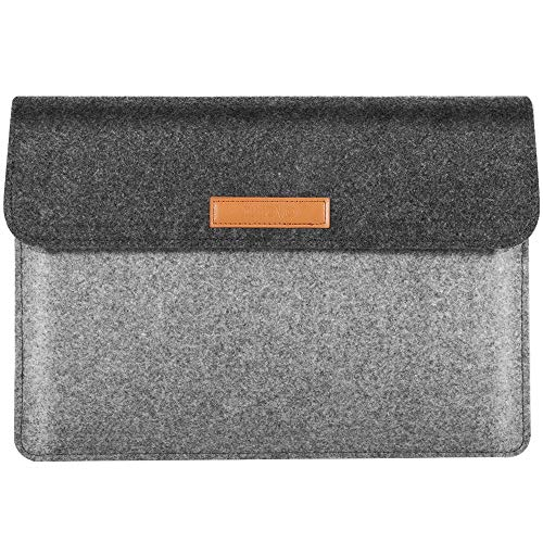 TiMOVO 13 Inch Tablet Laptop Sleeve Compatible with iPad Pro 12.9 2020, MacBook Air 13 Inch, MacBook Pro 13', Galaxy Tab S7+, Surface Pro X/7/6/5/4/3, Felt Portable Case Bag, Light Gray&Dark Gray