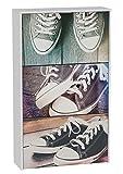 Zapatero 3 puertas blanco 127x75cm, Sneakers