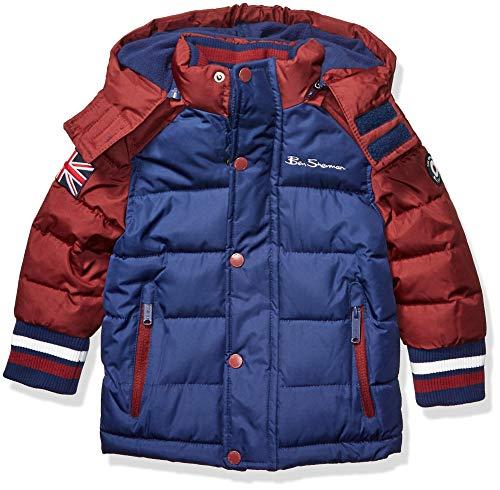 Ben Sherman Jungen Puffer Jacket Daunenalternative, Mantel, Klassischer Trüffel in Blau/Schokoladenbraun, 2 Jahre