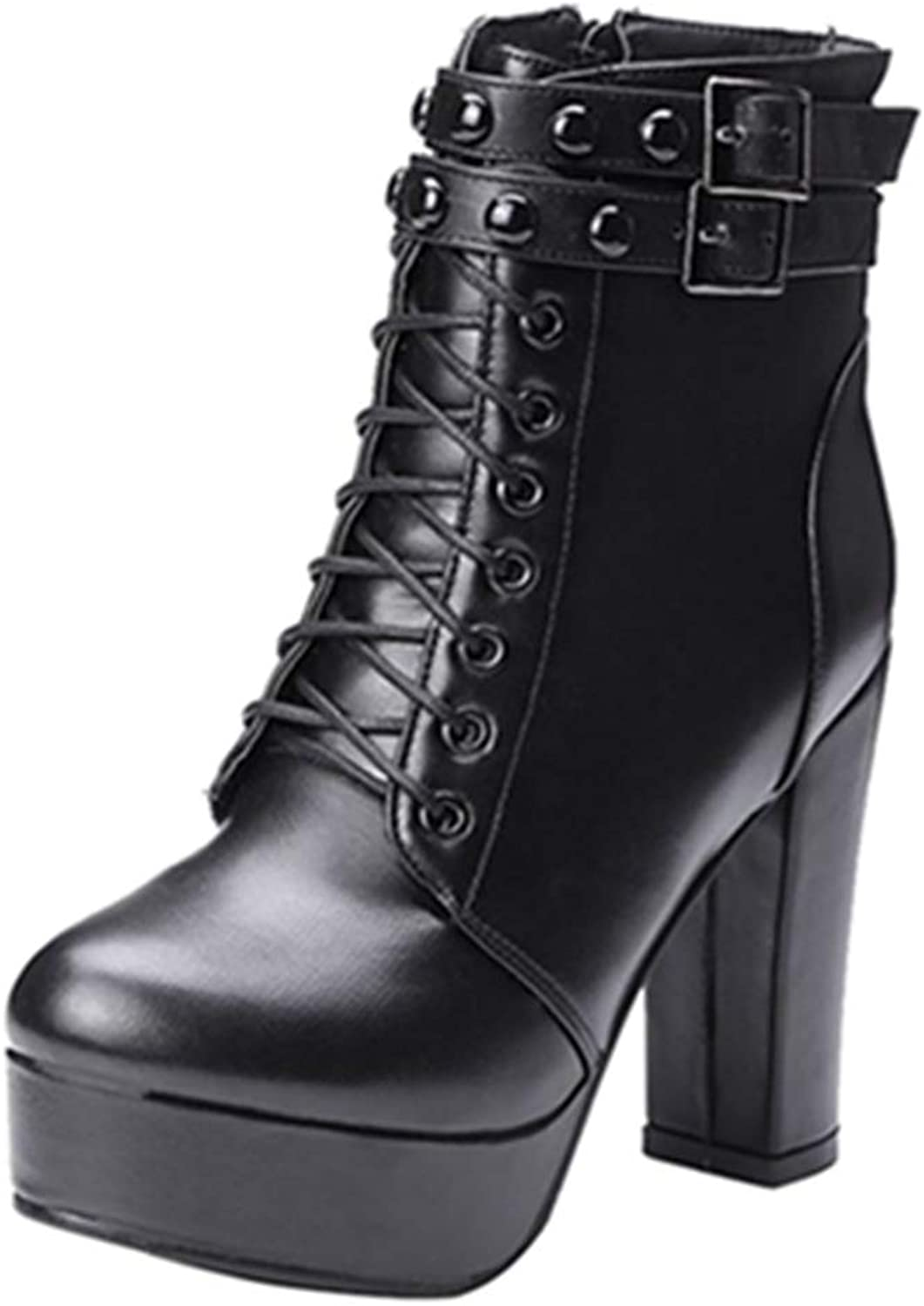 Smilice Women Fashion Ankle Boots Lita Boots
