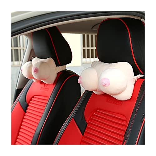 Almohada de cuello de coche para conducir, pechos almohadas de cuello, decorativo divertido, cojín del reposacabezas del asiento del coche, cojín de descanso de la c
