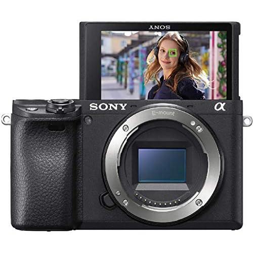Sony Alpha 6400 Fotocamera Digitale Mirrorless ad Obiettivi Intercambiabili, Sensore APS-C, Video 4K HDR, S-log2, S-log3 e Hlg, ILCE6400B, Nero