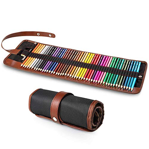 Yordawn Colored Pencils for Coloring Books, 48 Coloring Pencils Color Drawing Set Art Supplies with Roll Up Canvas Case for Kids Adults Artist