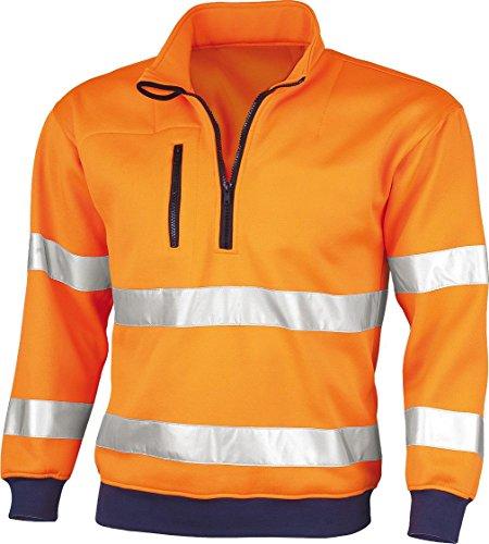 Qualitex Sweat de signalisation conforme à la norme EN 471 75 % EPS 25 % CO Large Orange - orange