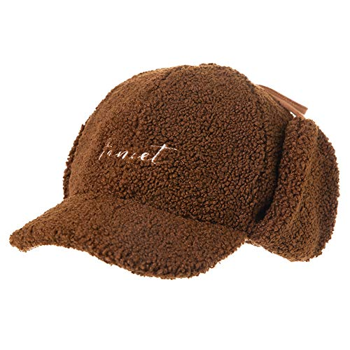 Winter Baseball Caps for Girl Kid Hunting Trapper Aviator Hat Earflap Elmer Fudd Snow Cold Weather Caramel 3-10Years