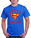 Camisetas divertidas Child Super Abuelo - para Hombre Camisetas Talla XL Color Azul Royal