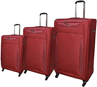 Magellan Luggage Trolley Bags 4 Pcs Set, Red