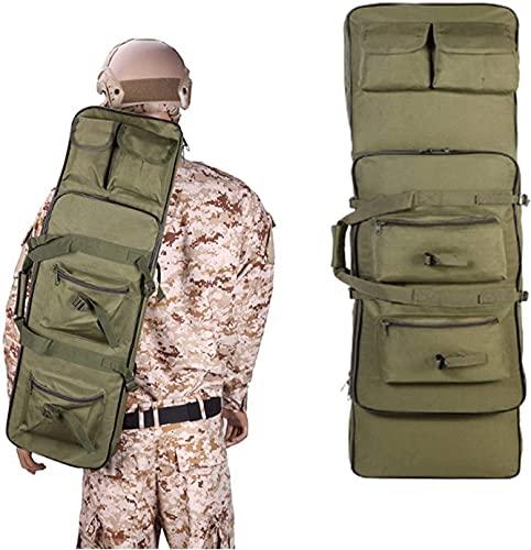 YQJY Custodia Doppia Morbida per Fucili, Pistole, Armi Borsa & Valigia di Trasporto,Zaino Fucile Caccia,per CS,Escursionismo,Caccia,Tiro,B-120cm/47.2in