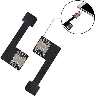 GVKVGIH Dual SIM Card Nano SD Adapter(2 Pcs) for Samsung Huawei Xiaomi Lenovo,Ultra-Slim 2-in-1 SIM Extender for Android Smartphone (Nano to Nano)