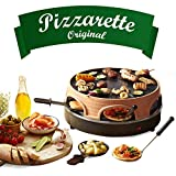 Emerio Pizzaofen, PIZZARETTE das Original, 3 in 1 Pizza-Raclette-Grill, patentiertes Design, für...