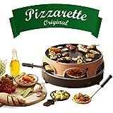 Horno de pizza Emerio, PIZZARETTE el original, 3 en 1 pizza raclette grill, diseño patentado, para mini pizza, verdadera diversión familiar para 6 personas, PO-113255.4