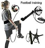 DLLMA Football Kick Trainer Solo Übungsausrüstung, Verstellbarer Fußballtrainingshilfsgürtel, Fußballtrainingshilfe Übungsausrüstung für Kinder Erwachsene Kostenloses Training