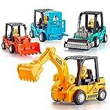 ZMZS Toddler Truck Toys Boys Gift, Baby Push Go Car Truck Dump Bullozer Excavator Bw Toys Sand Beach Vehicles Sets for Kids 3 4 5