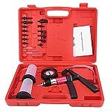 GOTOTOP 22pcs Kit de Probador de Presión de la Bomba de Vacío de Mano para Automóvil Set de Herramienta de Prueba de Purgador de Frenos con Adaptadores