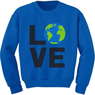 Love Save The Planet Earth Day Environment Toddler/Kids Sweatshirt