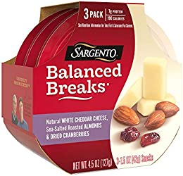Sargento Balanced Breaks, Natural White Cheddar Cheese, Sea-Salted Roasted Almonds and Dried Cranber