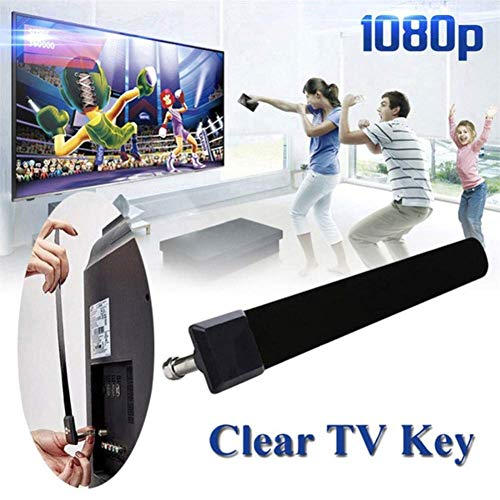 SuRose TV Antenne HD, 1080p HD Abzugsgraben-Kabel-HDTV-freier Fernsehsender-Luftsignalverbesserung für Haus