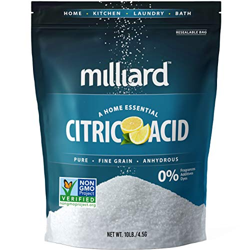 Milliard Citric Acid 10 Pound - 100% Pure Food Grade NON-GMO Project VERIFIED (10 Pound)