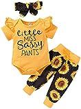 Newborn Baby Girl Clothes Infant Baby Ruffle Romper +Pants + Headband 3 PCS Outfits Set