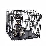 """DHYBDZ Jaula de Metal para Perros con Puerta Doble de 48"""", Jaula de Metal de Alambre Plegable para Perros Grandes, Perrera para Mascotas de fácil Limpieza para Interior y Exterior,60 * 46 * 51cm"""