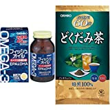 【セット買い】オリヒロ フィッシュオイル & 徳用どくだみ茶 60包