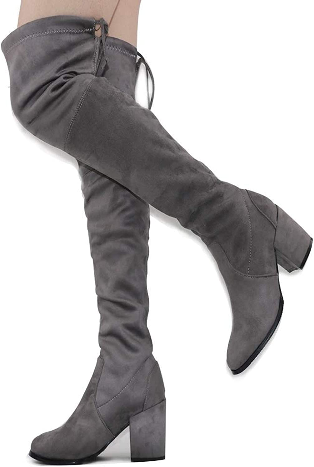 Webb Perkin Women for Women Suede 8.5Cm High Heel Boots 52Cm Tube High Heel shoes Fashion Over The Knee Boots