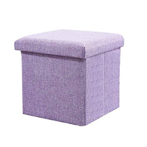 MEI XU Storage Stool, Soft Sponge, Small Square Cube Storage Stool, Sofa Stool, Bedroom Stool, Living Room Door, Shoe Bench, 4 Colors @ (Color : Purple)
