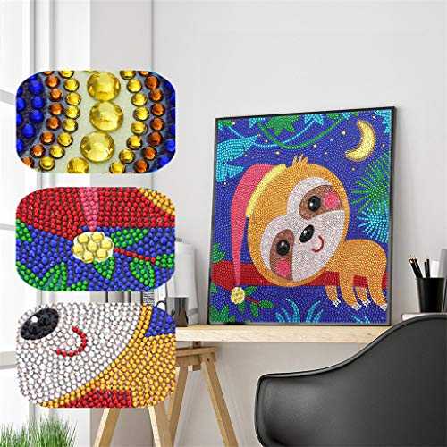 UmbWorld Easy 3D Diamond Painting for Kids Full Drill Painting by Number Kits Rhinestone Mosaic Making for Home Wall Decor.