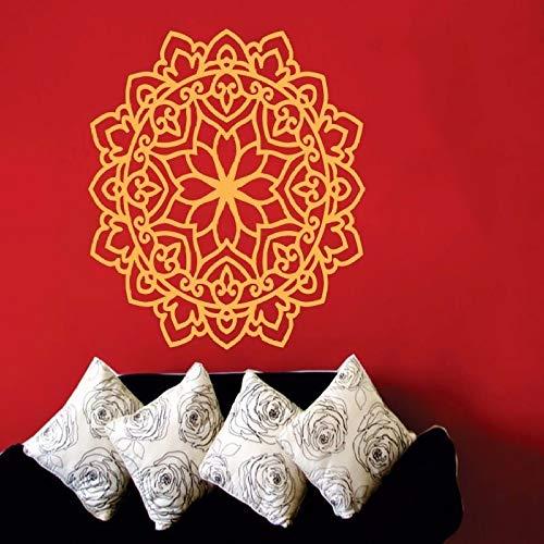 hetingyue Yoga muursticker mandala Marokkaanse sticker patroon huisdecoratie kunst vinyl muurschildering woonkamer bank bloem achtergrond decoratie