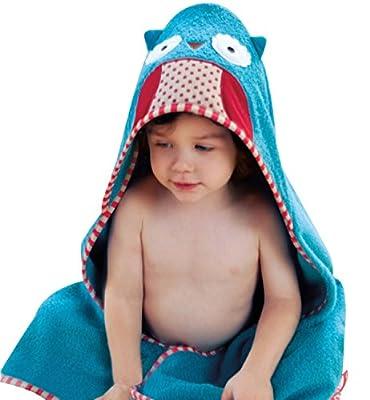 Surenow Unisex Kids Toddler Hooded Towel Absorbent Cartoon Animal Bathrobe Wrap
