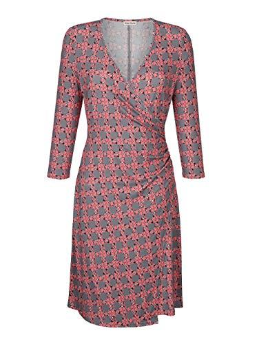 Alba Moda Kleid in Wickeloptik mit Knotendetail Taupe