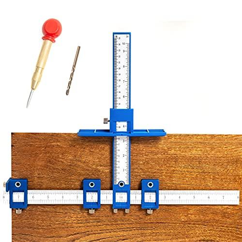 King&Charles Cabinet Hardware Jig, Cabinet Handle Jig, Cabinet Hardware Template Tool, Drawer Pull Jig - Cabinet Jig for Handles and Pulls