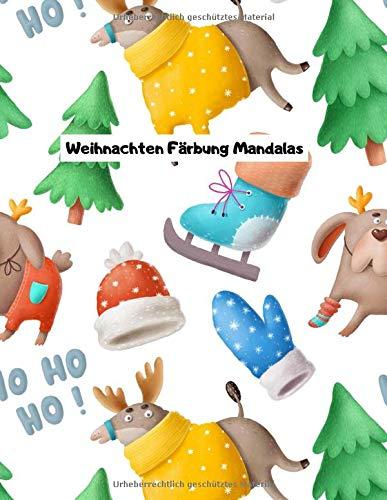 Weihnachten Färbung Mandalas: Malbuch | Weihnachten Mandala | Weihnachten Färbung | Deckung 1