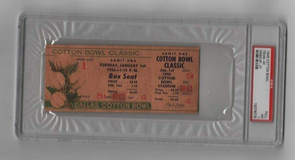 1946 Cotton Bowl 35% OFF Limited Special Price Full Ticket Gold v Bobby Missouri Version Texas