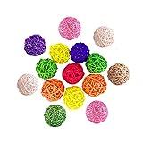 15 Pcs Bolas De Ratán Mimbre 3 Cm Multicolor Bolas De Mimbre De Ratán Natural Llenado De Jarrones Decoración Artesanal De Bricolaje