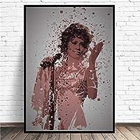 ホイットニースプラッタキャンバス絵画壁アート写真プリントフレームの家の装飾壁のポスター装飾リビングルーム (Color : 1, Size (Inch) : 30x42cm No Frame)