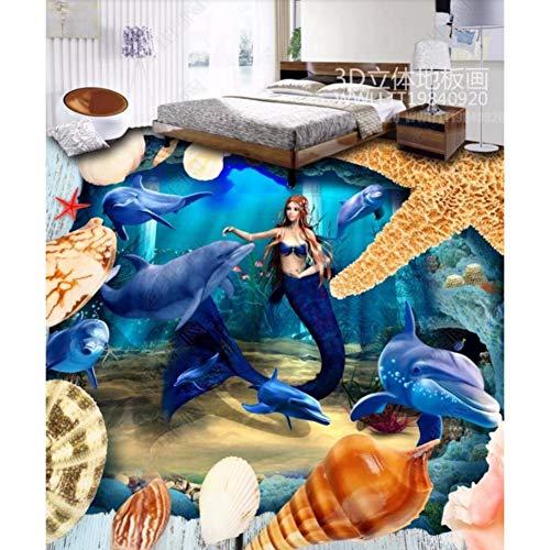 Rureng Piso De Pvc Fondos De Pantalla Personalizados Ocean World Dormitorio Salón Baldosa Autoadhesiva Papel Tapiz Fotográfico-350X250Cm